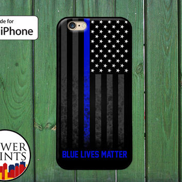 Police Thin Blue Line Accessory American Flag Lives Matter For Rubber iPhone 5 and 5s and 5c and iPhone 6 and iPhone 6 Plus + and iPhone SE