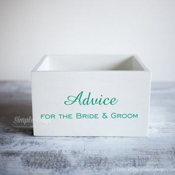 Wedding wishes cards box wedding advice cards advice for new parents bridal shower invitations wedding advice box rustic wedding invitation