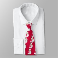 Waving Santa Claus Neck Tie