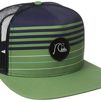 Quiksilver Men's Swelly Trucker Hat, Jade Sheen, One Size