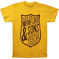 Mumford & Sons Men's  Shield Tour Slim Fit T-shirt Yellow