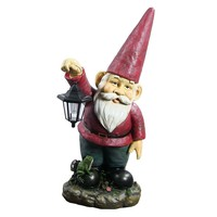 "Sammy the Solar Lantern Gnome - 29"" Tall"