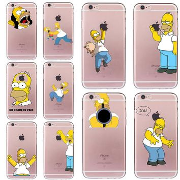 Homer Jay Simpson Case for iphone 5 5s SE 6 6s 7 8 plus Funny Cover Cheap Fundas Soft TPU Silicone Transparent Coque Ultra-thin