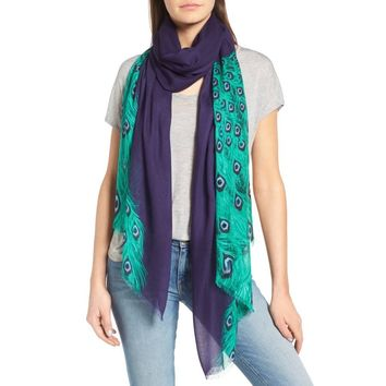 Kate Spade NY Plume Tissue Weight Oblong Scarf