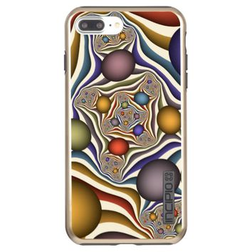Flying Up, Colorful, Modern, Abstract Fractal Art Incipio DualPro Shine iPhone 7 Plus Case