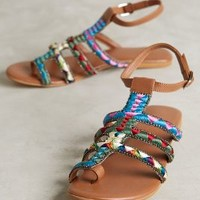 Deepa Gurnani Embroidered Sandals Multi