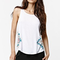 Billabong Zig Zag Swing MuscleTank Top - Womens Tee - White