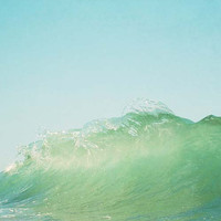 Splash, Ocean Wave Photograph, Summer, Sea Green, Ocean, Sea Wall Art, California Beach, Surf, Wave Photograph, 8x10