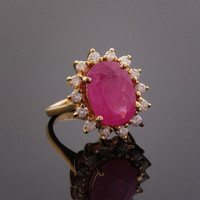 Estate Ruby Jewelry, Thai Ruby, Ruby Ring ~ M.S. Rau Antiques