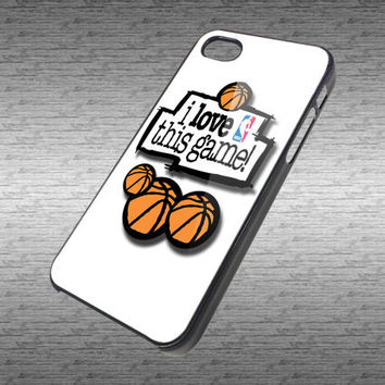 NBA I Love This Game Custom Art Design for Hard Black / White Plastic  iPhone 4/4s or iPhone 5 case