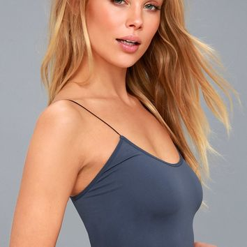 Brami Navy Blue Bra Top