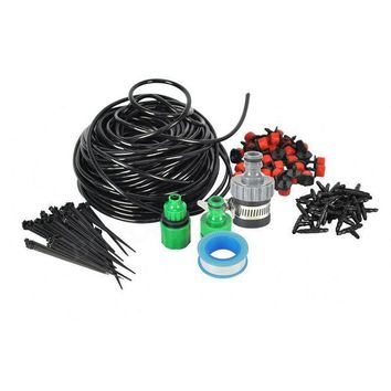 ONETOW 25M Automatic Micro Home Drip Irrigation System Sprinkler Spray Self Watering Distribution Tubing Drip Kit for Garden Bonsai