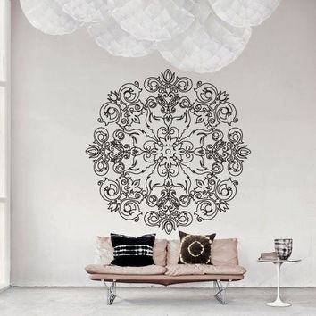 Wall Decor Vinyl Sticker Room Decal Lace Ornament Tracery Abstract mandala Modern Art Deco Art (s186)