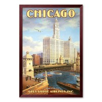 Art.com ''Chicago'' Framed Art Print by Kerne Erickson (Black)