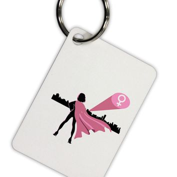 Girl Power Women's Empowerment Aluminum Keyring Tag by TooLoud