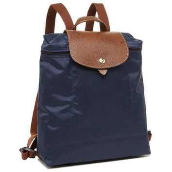 longchamp le pliage foldable backpack navy msrp lc lon089 1699 556 125
