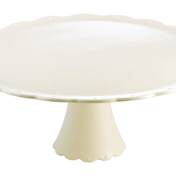 Scallop Cake Plate, White, Cake Stands & Tiered Trays