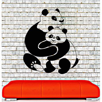 Vinyl Wall Decal Panda Animal Baby Room Decoration Kids Stickers Mural Unique Gift (016ig)