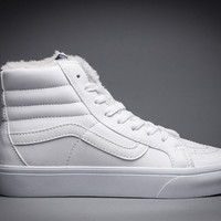 Vans classic sk8-hi autumn/winter velet plus warm unisex high top shoes for men and women skateboarding sneakers