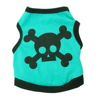 Pet Puppy Cat Dog Clothes Vests Small Skull Cotton Spring Summer T-shirt Clothing for Dog Chihuahua Poodle