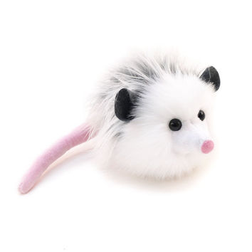 Stuffed Animal Cute Plush Toy Gray Opossum Kawaii Plushie Penelope Opossum Snuggly Cuddly Faux Possum Medium 5x8 Inches