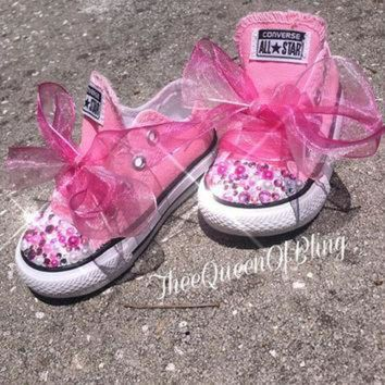 DCKL9 Pink toddler bling converse