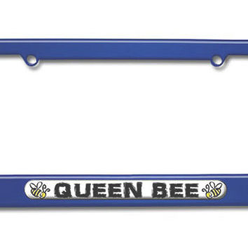 Queen Bee - Bumble Bee Metal License Plate Frame