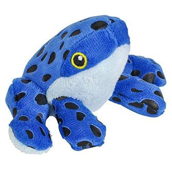 Wildlife Tree 3.5 Inch Blue Poison Dart Frog Mini Small Stuffed Animals Bulk Bundle of Zoo Animal Toys or Jungle Safari Party Favors for Kids Pack of 12
