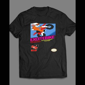 CLASSIC RETRO GAME EXCITE BIKE T-SHIRT