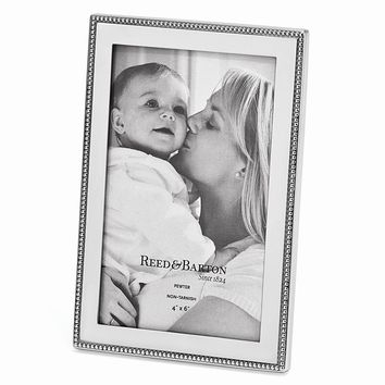 Baby Beads Pewter 4x6 Photo Frame