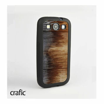 Burned Wood Galaxy S3 Rubber Case