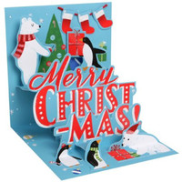 Polar Christmas Popup Holiday Card