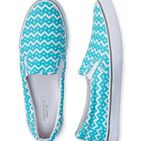 Chevron Slip-On Deck Shoe