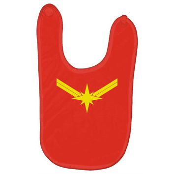 captain marvel Baby Bibs