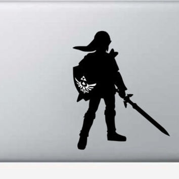 Legend of Zelda Link Macbook Decal Sticker Skin Fits Macbook Air Pro 11 13 15 17 inch