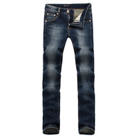 Men's Fashion Slim Winter Men Pants Ripped Holes Jeans [6528365507]
