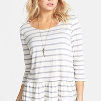 Ten Sixty Sherman Stripe Peplum Pullover (Juniors)