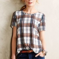 Draped Plaid Top by Maeve Blue Motif