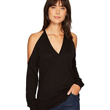 Lanston Cold Shoulder V-Neck Pullover
