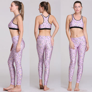 Yoga Set Print Quick Dry Bottom & Top