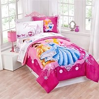 Disney Princess Twin Size Comforter and Sham Set