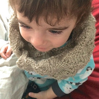 Knit Cowl - Infinity Scarf - Kids Infinity Scarf - Wool Knit Scarf - Wool Cowl - Toddler Scarf -Toddler Cowl - Gender Neutral Baby Clothes