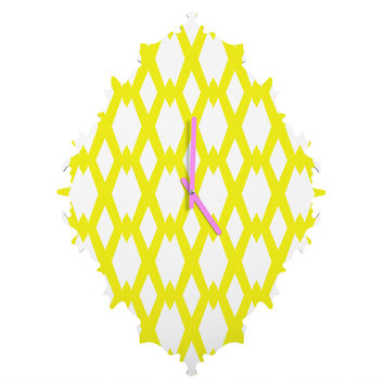 Lisa Argyropoulos Daffy Lattice Lemon Baroque Clock