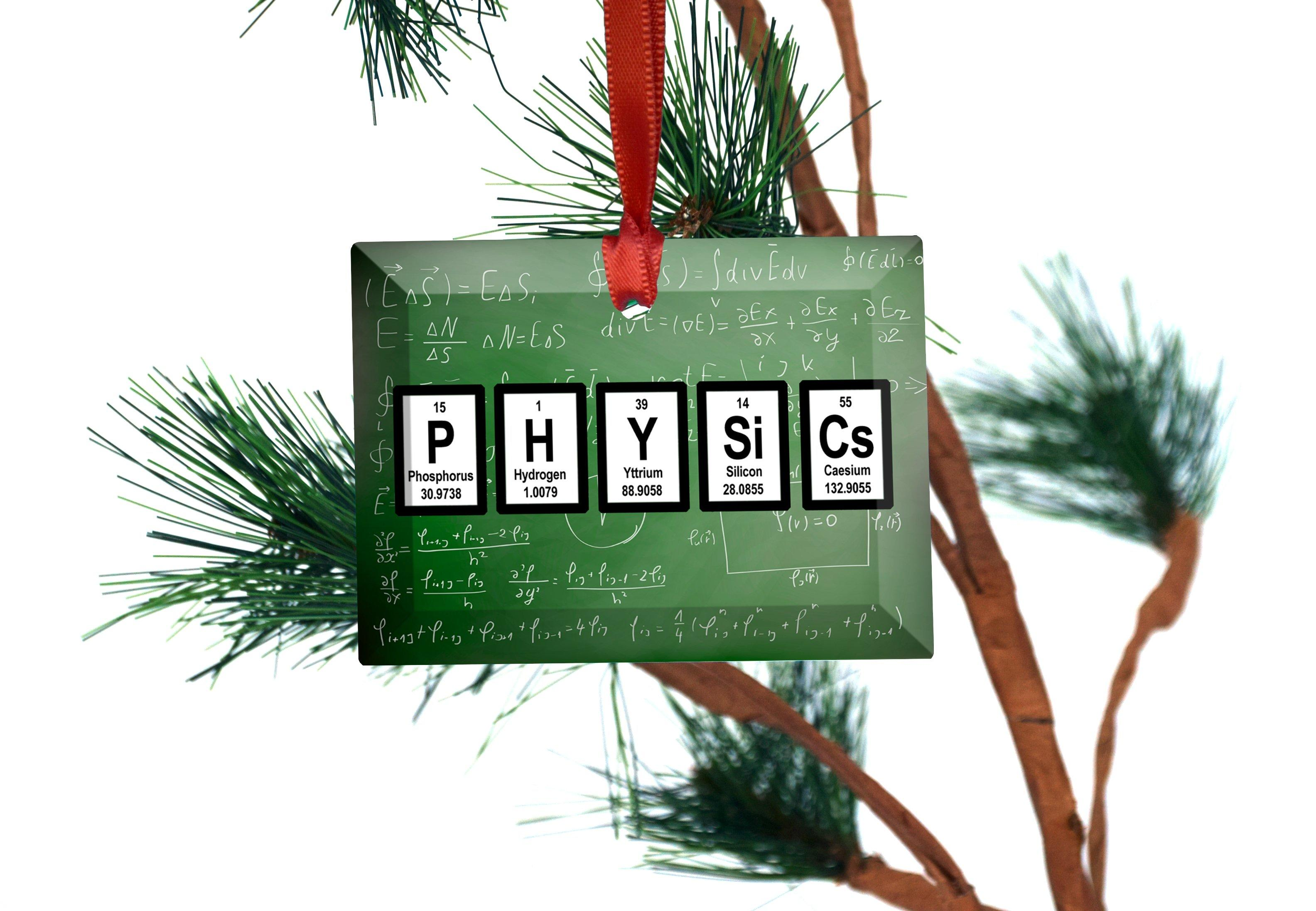 Physics Periodic Table Of Elements Gl Christmas Ornament