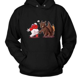 Toothless Poke Baymax Hoodie Two Sided
