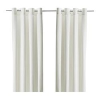 "MERETE Curtains, 1 pair, bleached - 57x98 "" - IKEA"