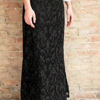 Catrine Lace Maxi Skirt - Black
