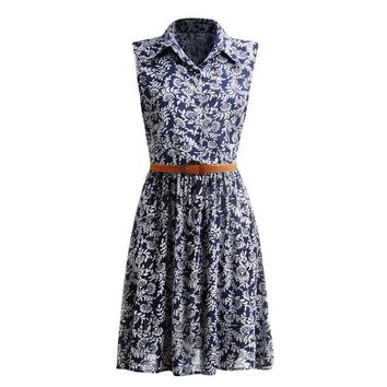 Summer Women Dress 2016 Retro Vintage Dresses Floral Print Dot Robe Femme Rockabilly Plus Size Pinup Swing Party Dress