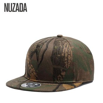 Brands NUZADA Cap Snapback Bone  Baseball Caps For Men Women Camouflage Graffiti Hip Hop Technology Cotton Spring Summer Hats
