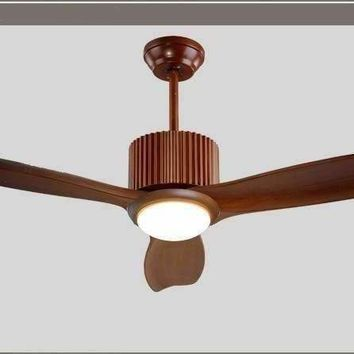 Creative-classical European retro fan chandelier remote control restaurant fan light fan chandelier living room wood 52inch